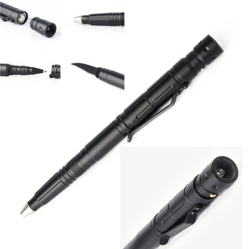 Multifunction HB XPE LED Pen Flashlight Titanium Alloy Portable Emergency Defend Tactical Flashlight