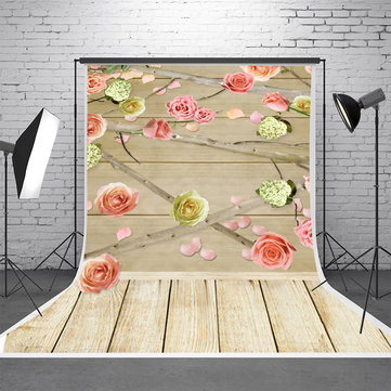 5x7FT Vinyl Wood Wall Floor Studio Prop Scenery Background Art Photo Background Backdrop