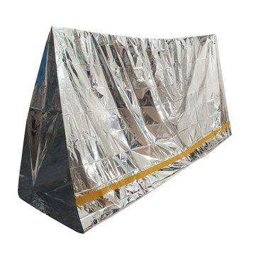 Emergency Gealuminiseerd Zonnescherm Zon Shelter Blanket EHBO Isolatie slaapzak Outdoor Camping Survival 100 x 200cm