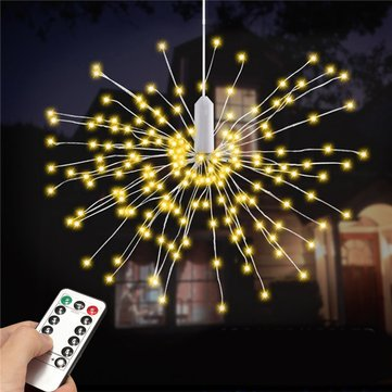 Battery Powered 100LED 8 Modes IP65 13 Keys Remote DIY Firework Fairy String Christmas Light