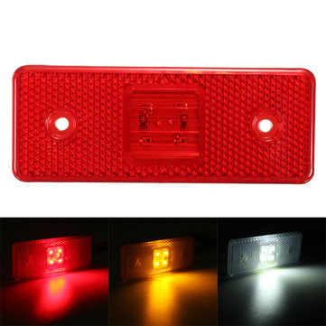 4 LED 24V Truck Trailer Lorry Side Marker Light Lamp Amber White Red