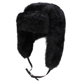 Unisex Women Men Earflap Russian Aviator Cap Faux Fur Trapper Headbrand Cossack Style Bomber Hat