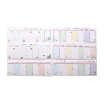 Cute Weekly Plan Paper Scrapbooking Stickers Sticky Note Stationery Memo Pad