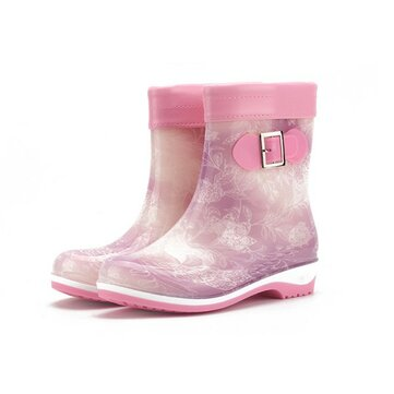 Colorful Keep Warm Slip On Ankle Short Rain Boots