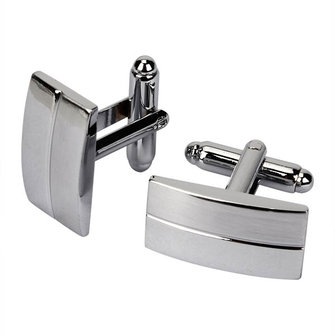 Men Cufflinks Metal Drawing Smooth Cufflinks for Wedding Decoration