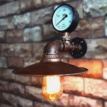 Loft Industrial Vintage Water Pipe Iron Wall Light Warehouse Lamp Restaurant Shop Living Room Decor
