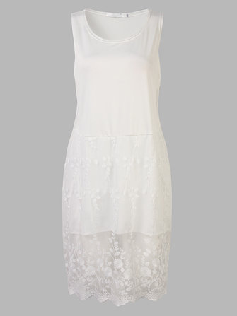 Elegant Women White Organza Patchwork Party Bodycon Mini Dress