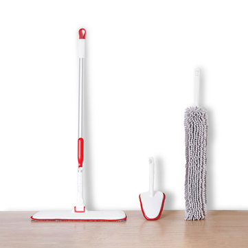 XIAOMI YIJIE Mutifunctional Cleaning Sets Handheld Flat Mop Duster Cleaning Brush Home Cleaning Tools