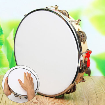 Polyester Leather Pandeiro Drum Tambourine Samba Brasil Wood Music Instrument