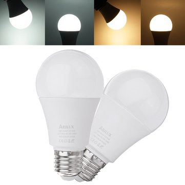 ARILUX® E27 A60 9W 620LM Warm White Pure White Dusk to Dawn LED Sensor Globe Light Bulb AC100-240V