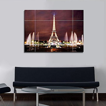 37inches removable paris eiffel tower wall sticker living room decal rh banggood com