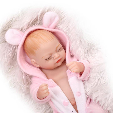 Soft Body Silicone Reborn Doll Lifelike Newborn Toy Acrylic Eyes Practice Bathe Wear Clothes Toys