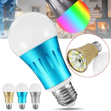 E27 7W RGBW WIFI APP Remote Control LED Smart Light Bulb Works With Alexa AC85-265V