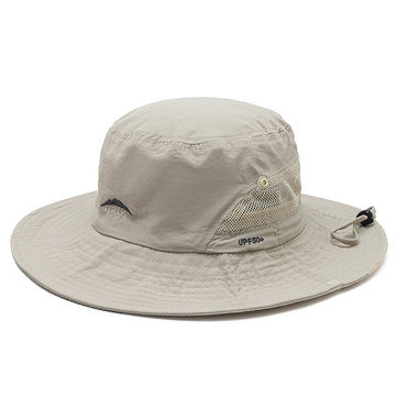 Mens Wide Brim Summer Sunscreen Fishing Bucket Hat