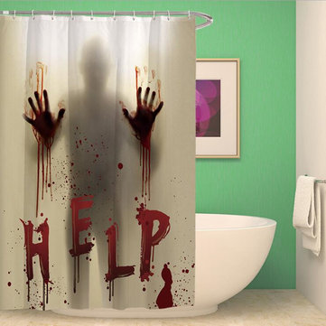 Halloween Horror Bloody Hands Helps Waterproof Shower Curtains Bathroom Decor