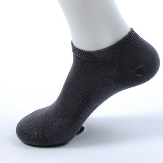 Mens Spring Summer Thin Bamboo Fiber Solid Color Casual Comfortable Boat Socks
