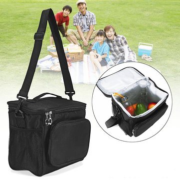 10L Picnic Bag Lunch Shoulder Bag Camping Waterproof Thermal Bag Ice Pack Food Storage Bag