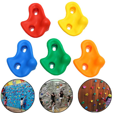 Children's Climbing Wall Stones Holds Hand Feet Starter Kit Bolt On Rock Holder