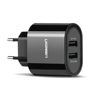 Ugreen 5V 3.4A Dual USB Port Portable Wall Charger EU Plug Adapter