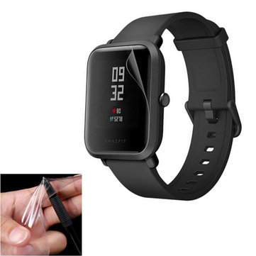 2PCS Hat Prince Scratch-resistant Waterproof HD Thin Screen Protector For Xiaomi Amazfit Pace Lite