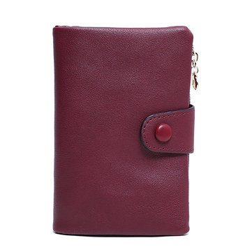 Women Soft PU Leather Short Wallet Credit Card Holder Coins Bag