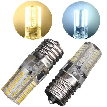 E17 LED Bub 2.6W 64 SMD 3014 Silica Crystal Gel White/Warm White Corn Light Lamp 110V-120V