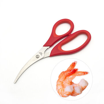 KCASA KC-SS081 Stainless Steel Lobster Shrimp Crap Seafood Scissor Shell Crack Shears Kitchen Tools