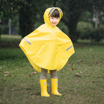 Original Xiaomi Mijia Children Cloak Raincoat Boy Girls Waterproof Poncho with 3M Reflection Strip