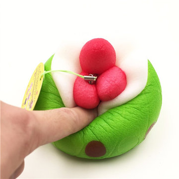 Squishy Strawberry Puff Slow Rising Phone Bag Strap Pendent Collection Gift Toy