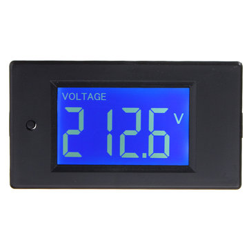 Multifunctional AC LCD Digital Voltage Current Tester KWh Watt Panel Battery Meter Gauge