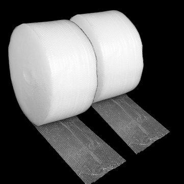 2 Roll 30cm*110m Air Bubble Film Padding Small Mailing Packing Machine Wrap Cushioning Tool