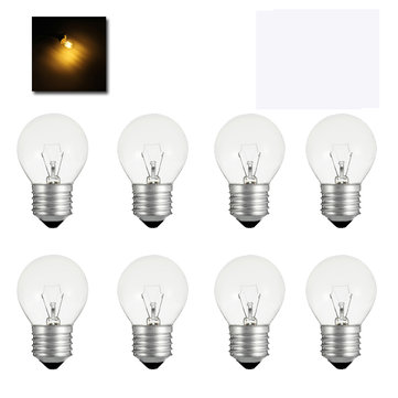ZX 10X G40 E27 40W Clear Glass Globe Bulbs With Candelabra Screw Base InCandescent Light Bulb AC220V