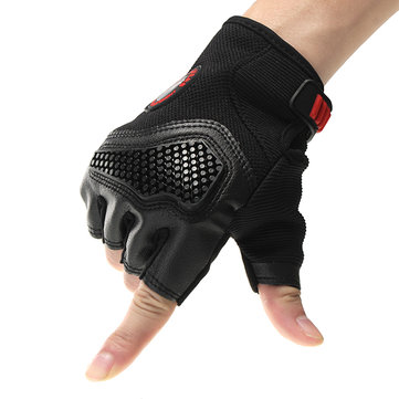 Half Finger Touch Screen Driving Motocross Racing Protective Motorcycle Gloves
