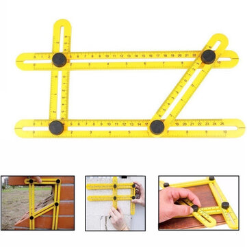 Professional Angle Template Tool Angle Measuring Tool Protractor Multi-Angle Ruler Layout Tool Ruler