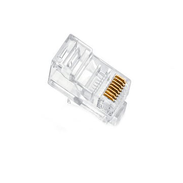 500x RJ45 RJ-45 CAT5 Gold Shielded Modular Plug Network Connector
