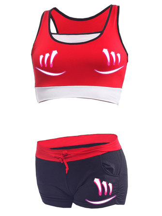 Women Comfortable Shockproof Outfits Wireless Fitness Running Elastic Sports Yoga Bra Set
