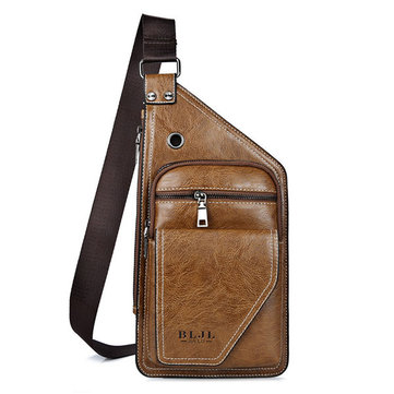 Vintage Bueiness Bag Multifunctional Shoulder Bag Waterproof Chest Bag For Men