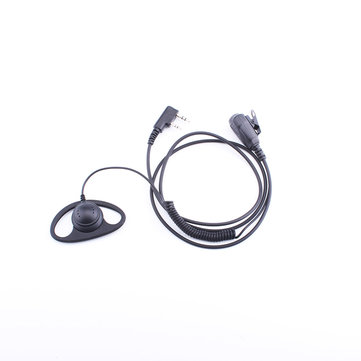 K-011-curve D shape earphone Spring Headphones Applicable To Baofeng, Jianwu