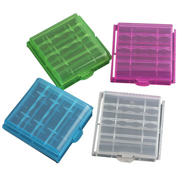 1pcs Plastic Box Case Storage For 4x14500/AA Li-ion Battery
