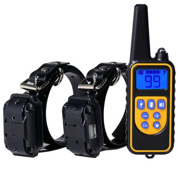 Remote Dog Training Collar 1000 Yards Remote Static Shock Training Collar for 2 dogs