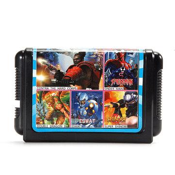 5 in 1 Game Cartridge 16 bit Game Card for Sega MegaDrive Genesis PAL NTSC System