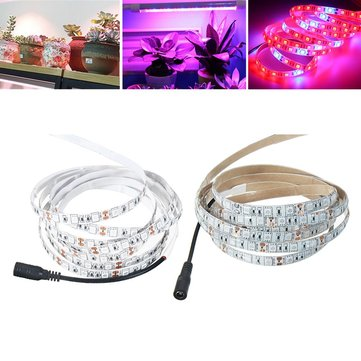 3M SMD5050 Red:Blue 5:1 Full Spectrum LED Grow Strip Hydroponic Plant Light Kit+Power Adapter DC12V