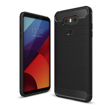 Bakeey Carbon Fiber Shockproof Silicone Back Cover Protective Case for LG G6