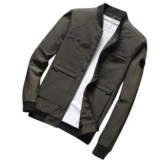 Mens Fall Casual Fashion Slim Varsity Jacket