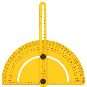 Plastic Protractor Angle Finder Measure Ruler Goniometer Articulating Arms Template Tool for Handymen Builders Craftsmen Inch Metric