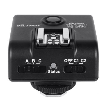 Viltrox FC210C Wireless E-TTL Flash Trigger Transceiver for Canon 5D Mark II 7D 60D 5D EOS Camera
