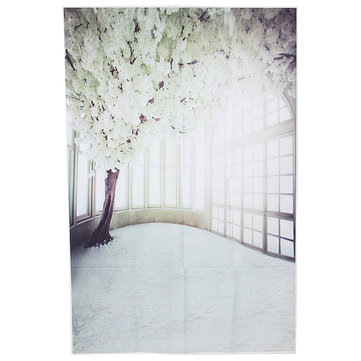 3x5ft Vinyl White Flower Tree Windows Photography Background Backdrops Photo Studio Prop