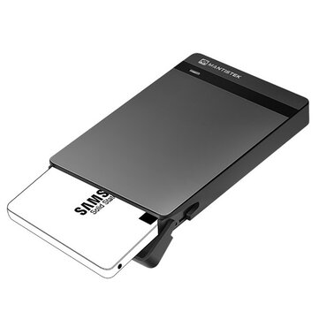 MantisTek® Mbox2.5 USB 3.0 SATA III HDD SSD Hard Drive Enclosure External Case Support UASP