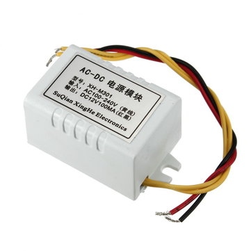 XH-M301 AC-DC Power Adapter 12V 100mA 1W Switch Power Supply Module
