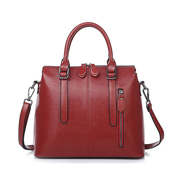 Elegant Compound Cowhide Women Handbag Shoulder Bag